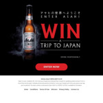 Win a Trip for 2 to Tokyo, Japan Worth up to $15,500 [Purchase Asahi Beer]