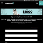 Win a $1,000 Student Flights Voucher from Platypus