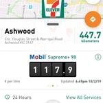 [VIC] Mobil Supreme+ 98 $1.179/L @ 7-Eleven, Ashwood
