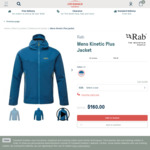 40% off Rab Mens Kinetic Plus Jacket $160 (Was $270) + Delivery (Free for Orders over $300) @ Cotswold Outdoor
