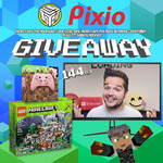 "Win a Pixio 27"" 144Hz Gaming Monitor, Wireless Xbox Minecraft Pig Controller, & LEGO Minecraft Set from Logdotzip & Pixio Gaming"