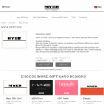 $10 Bonus with $100+ Myer Gift Cards / In-store and Online