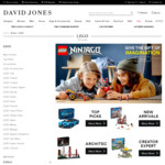 25% off All Full Priced LEGO (Mindstorms from $374.99, Pop-up Book $81.75) at David Jones