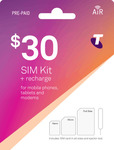 Telstra $30 Sim Starter Kit $11.99 Shipped @ CELLMATE