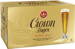 Crown Lager Beer 24x 375ml Bottles $48 Delivered ($33 with First Purchase on Latitude Pay) @ CUB via Catch