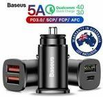 Baseus 30W USB Car Charger - 2 for $12, Wireless Bluetooth Waterproof Speaker 2 for $12 + Del ($0 w/eBay+) @ Apus Express eBay