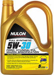Nulon Full Synthetic Oil - 5W-30 5 Litre $31.50 (Was $64.99) @ Supercheap Auto (Club Plus Membership Required)