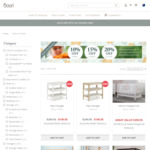 10% off $500+ Spend, 15% off $1000+, 20% off $1500+ @ Boori (Baby & Kids Furniture - Cots, Beds, Changers)