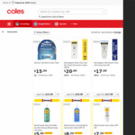 ½ Price Sunscreen and Tanning (Excl Clearance, Every Day & Down Down) @ Coles