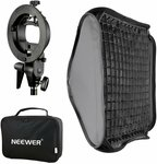 "Neewer 32x32"" Bowens Mount Softbox with Grid and S-Type Flash Bracket $31.04 + Delivery ($0 with Prime /$39 Spend) @ Amazon AU"