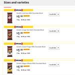 Arnott's Chocolate 170g Block Varieties $1.50 (Was $5.00) at Coles