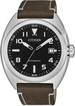 Citizen NJ0100-XX Automatic Aviator Watch Stainless Bracelet or Leather Strap options, blue or black dials $149 deliv - Starbuy