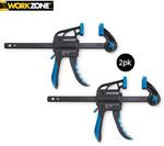 F-clamps 2pk, Quick Ratcheting Bar Clamps 2/4pk $9.99 @ ALDI