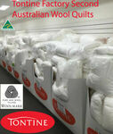 [Factory Second] Tontine Farmhouse 500GSM Organic Cotton Cover Wool Quilt Queen $67.15 Delivered @ Dhimanvinod eBay
