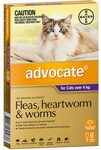 Advocate Flea and Worm Treatment for Cats 6 Packs from $52 (Were $70.20) Delivered @ OzCat Pet Supplies