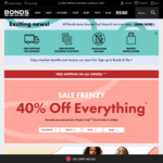 40% off + Free Shipping @ Bonds