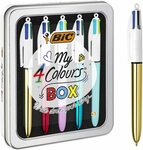 BIC 4 Colour Christmas Gift Box Pack of 5 Pens + Case $14.40 (Was $16.36) + Delivery ($0 with Prime/ $39 Spend) @ Amazon AU