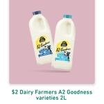 Dairy Farmers A2 Goodness Milk 2L $2 or Masters 1L Full Cream Milk $1 @ 7-Eleven App (Rewards)