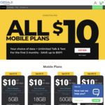 $10/30 Days for ALL Mobile Plans (5/18/50/70GB) for 1st 3 Renewals + $20 Referral Credit for Referee/Referrer @ OzSale Mobile