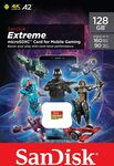 SanDisk Extreme Mobile Gaming 128GB MicroSD $26.69 + Delivery ($0 with Prime/ $39 Spend) @ Amazon AU