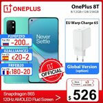 OnePlus 8T 5G (Global Version) 8GB 128GB, NFC, B28 US$600.60 (~A$775.55) Shipped @ OnePlus Official Store AliExpress