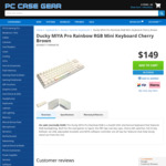 Ducky MIYA Pro RGB 65% Mechanical Keyboard Cherry Brown/Red/Blue $149 + Delivery @ PC Case Gear