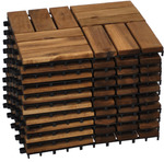 Modular Acacia Timber Decking Garden Flooring Tiles 10pcs (30cm X 30cm Each) $60.30 + Shipping @ Furniture Star Direct