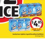 ½ Price UP&GO 6 Pack $4.85, V Energy Drink 4 Pack $4.97, Fanta/Sprite 24 Pack $16.17 @ Coles