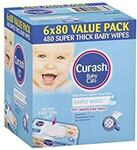 Curash Simply Water Baby Wipes 6x 80 $14.50 ($12.33 S&S) + Delivery ($0 with Prime / $39 Spend) @ Amazon AU