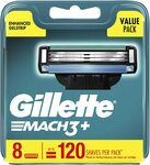 Gillette Mach3+ Replacement Cartridges 8pk $18.20 ($16.38 with S&S) + Delivery ($0 with Prime) @ Amazon AU