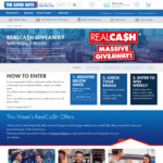 Win 1 of 16 Samsung/LG/Dyson/Lenovo Appliance & RealCa$h Digital VISA Prizes or a $25,000 Kitchen Reno from The Good Guys