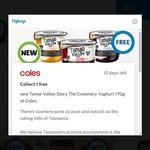 Free Tamar Valley Dairy The Creamery Yoghurt 170g for Flybuys Members @ Coles