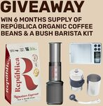 Win 6 Months Supply of República Coffee, an AeroPress Go, Basal Scale, Porlex Grinder & More at We Are Explorers