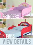 Disney Licensed Toddler Bed (Princess or Cars) $49.00 Delivered