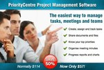 PriorityCentre Team and Task Management Software at $57 or 50% off