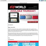 3DS XL +1 Game (New Super Mario Bros 2 or Choice of 7 Other Games) $249.00 in Store