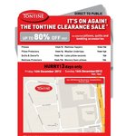 Tontine Clearance Sale - up to 80% 14 - 16 Dec 2013 (Victoria Only)