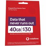 Vodafone $30 Pre-Paid Cap Starter Pack