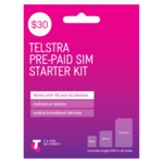 Telstra $30 Pre-Paid Sim Starter Kit