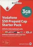 Vodafone $50 Pre-Paid Cap Starter Pack
